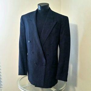 Vintage Christian Dior Black Wool Sport Coat